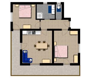 Grundriss Appartement Christl